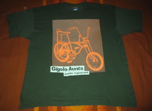 1993 GIGOLO AUNTS GENUINE 3 SPEED ROCK VINTAGE T-SHIRT