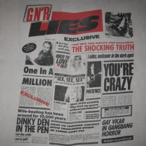 1988 GUNS N ROSES LIES VINTAGE T-SHIRT GNR AXL ROSE