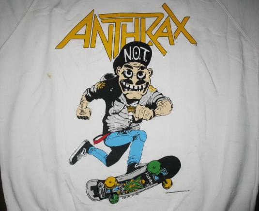 1987 ANTHRAX MOSH IT UP VINTAGE SWEAT SHIRT THRASH METAL
