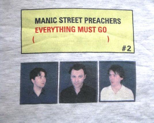 1996 MANIC STREET PREACHERS EVERYTHING MUST GO TOUR VINTAGE
