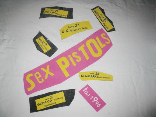 1996 SEX PISTOLS FILTHY LUCRE TOUR VINTAGE T-SHIRT PUNK