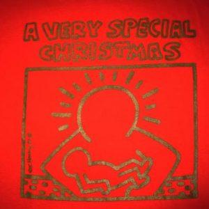 1987 KEITH HARING CHRISTMAS VINTAGE LONG SLEEVE T-SHIRT