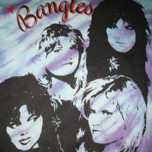 80s THE BANGLES VINTAGE TIE DYE T-SHIRT SUSANNA HOFFS