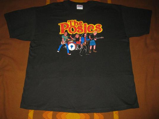 1996 THE POSIES ARCHIES VINTAGE T-SHIRT SEATTLE