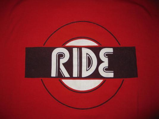 1994 RIDE UNDERGROUND SIGN VINTAGE T-SHIRT SHOEGAZE