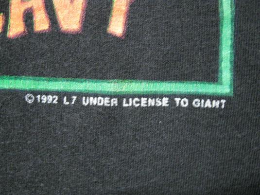 1992 L7 SHIT LIST VINTAGE T-SHIRT BRICKS ARE HEAVY GRUNGE