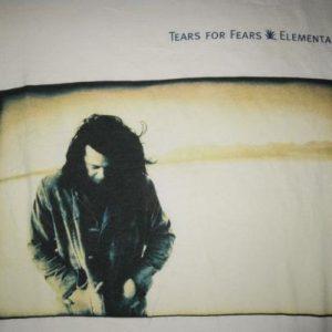 1993 TEARS FOR FEARS ELEMENTAL VINTAGE T-SHIRT