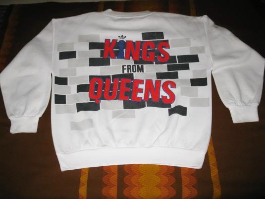 80s RUN DMC KINGS FROM QUEENS VINTAGE SWEATSHIRT HIP HOP
