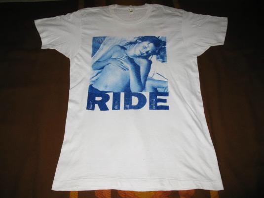1992 RIDE GOING BLANK AGAIN UK TOUR VINTAGE T-SHIRT SHOEGAZE