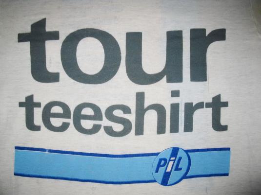 1986 PUBLIC IMAGE LIMITED TOUR VINTAGE T-SHIRT PIL LYDON