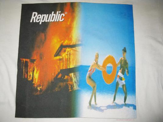 1993 NEW ORDER REPUBLIC VINTAGE T-SHIRT JOY DIVISION 80s