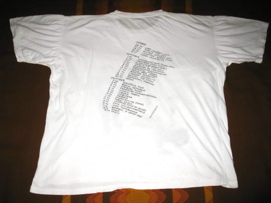 1989 THE JESUS AND MARY CHAIN AUTOMATIC TOUR VINTAGE T-SHIRT