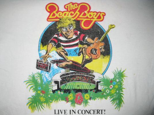 THE BEACH BOYS CONCERT 1986 VINTAGE T-SHIRT