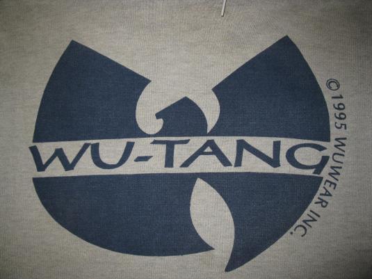 1995 WU TANG CLAN VINTAGE SWEAT SHIRT HOODIE WU WEAR
