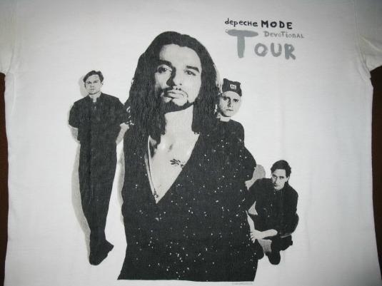 1993 DEPECHE MODE DEVOTIONAL TOUR VINTAGE T-SHIRT