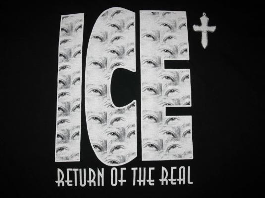 90s ICE-T RETURN OF THE REAL VINTAGE T-SHIRT RHYME SYNDICATE