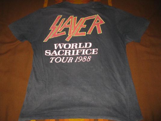 1988 SLAYER WORLD SACRIFICE VINTAGE T-SHIRT AUSTRALIA