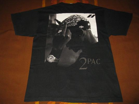 1999 TUPAC MIDDLE FINGER VINTAGE T-SHIRT 2PAC MAKAVELI