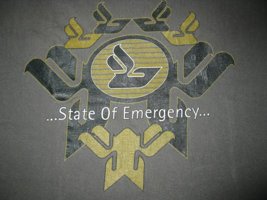1997 BJORK JOGA STATE OF EMERGENCY VINTAGE T-SHIRT