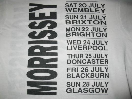 1991 MORRISSEY KILL UNCLE TOUR VINTAGE T-SHIRT