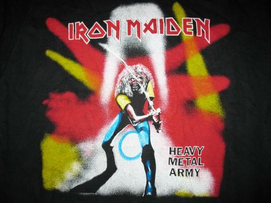 1981 IRON MAIDEN HEAVY METAL ARMY VINTAGE SWEAT SHIRT JAPAN