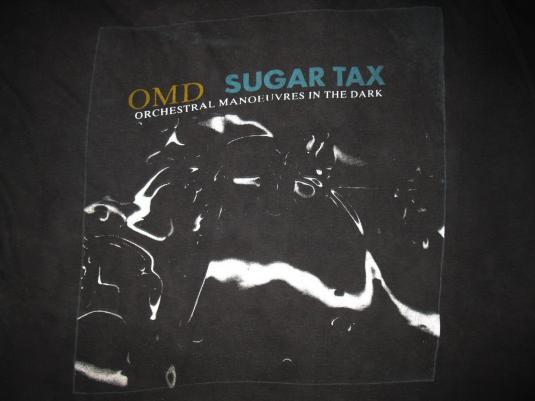 1991 OMD SUGAR TAX VINTAGE T-SHIRT O.M.D. NEW WAVE