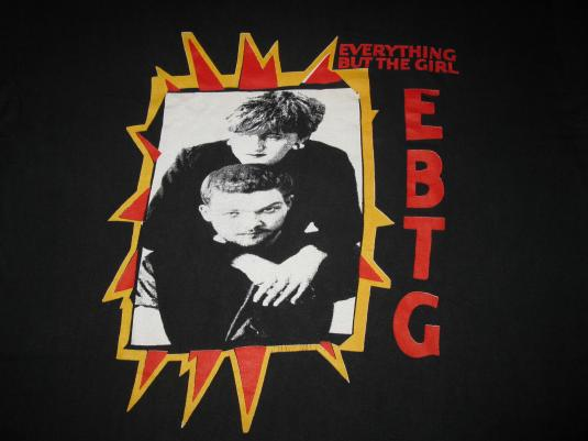 80s EVERYTHING BUT THE GIRL CONCERT VINTAGE T-SHIRT