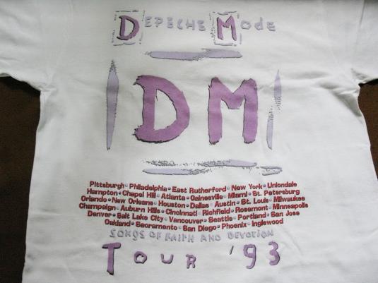 1993 DEPECHE MODE DEVOTIONAL US TOUR VINTAGE T-SHIRT