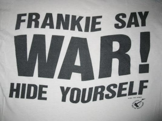 1984 FRANKIE GOES TO HOLLYWOOD WAR VINTAGE T-SHIRT