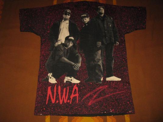 1991 NWA NIGGAZ4LIFE ALLOVER PRINT VINTAGE T-SHIRT