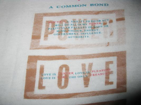1984 FRANKIE GOES TO HOLLYWOOD POWER OF LOVE VINTAGE T-SHIRT