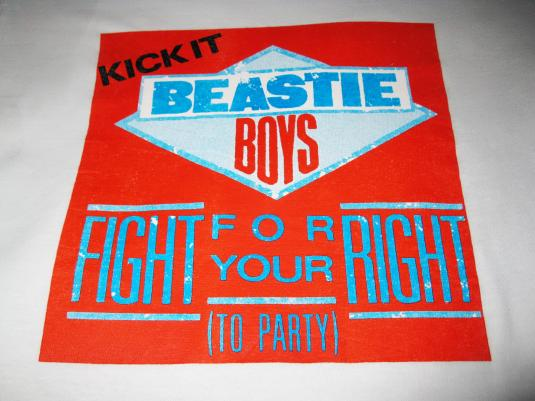 90s BEASTIE BOYS FIGHT FOR YOUR RIGHT VINTAGE T-SHIRT