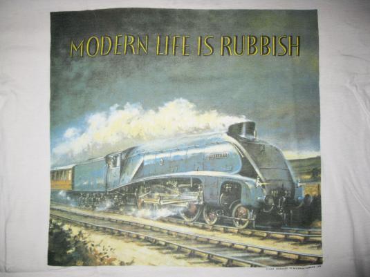 1993 BLUR MODERN LIFE IS RUBBISH VINTAGE T-SHIRT BRIT POP