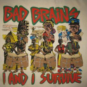 90s BAD BRAINS I AND I SURVIVE VINTAGE T-SHIRT