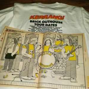 Very Rare Vintage Kerrang!! Brick Outhouse Tour T Shirt