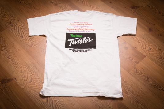 Vintage 90s Tropicana Twister Imagination Promo T-Shirt, Senior Citizen