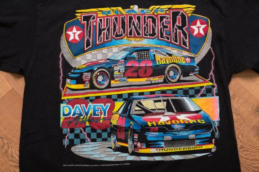 Vintage 90s Davey Allison 28 NASCAR Havoline Texaco T-Shirt