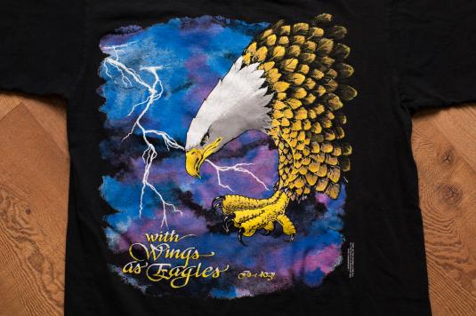 With Wings As Eagles T-Shirt, Christian Biker-Style, Eagle