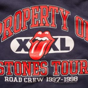Vintage 90s Property of Rolling Stones Tour 1997-98 Road Crew Hoodie