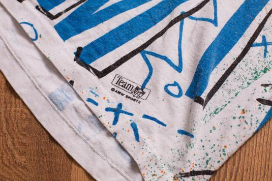 Vintage 90s Miami Dolphins Abstract Paint Splatters T-Shirt