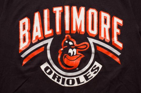 Vintage 80s Baltimore Orioles Logo & Text T-Shirt, Champion