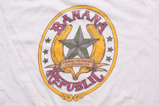 1980s Banana Republic T-Shirt, Classic Big Star Logo