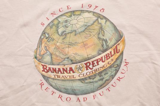 Vintage 1988 Banana Republic T-Shirt, Retro Ad Futurum World