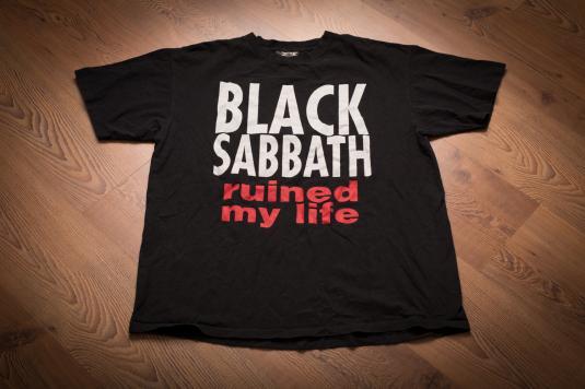 Vintage 1990s Black Sabbath Ruined My Life T-Shirt, 1999