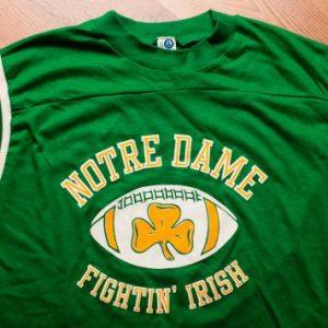 Notre Dame T-shirt Fighting Irish Football, University Artex