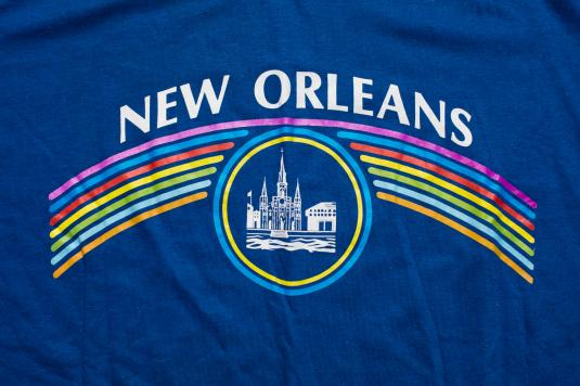 Vintage 80s New Orleans, LA Rainbow T-Shirt, The Big Easy