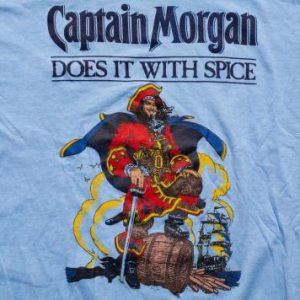 Captain Morgan T-Shirt, Does It With Spice, Vintage 1980s