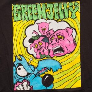 Green Jelly 1993 Tour T-Shirt, Vintage 90s Three Little Pigs