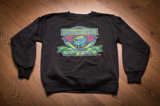 Vintage 90s Georgetown Hoyas College Neon Sweatshirt Shirt