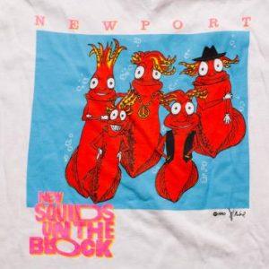 "New Squids on the Block T-Shirt Funny ""New Kids"" NKOTB Spoof"